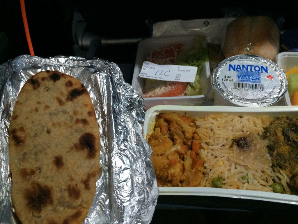 "The ""Skillet bread"" looks sort of like Naan. Doesn't taste like Naan."