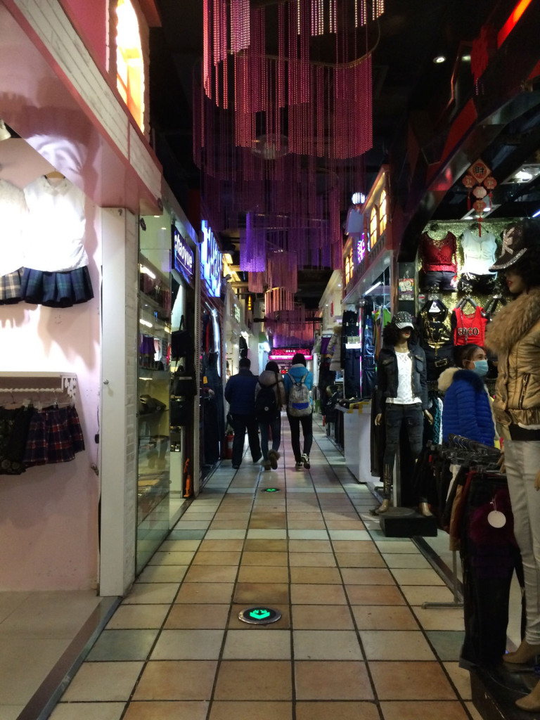This section reminds me of the night market in Taiwan: narrow and crowded.
